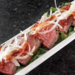 Roast beef with ponzu vinegar gelee